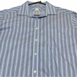 Men's Ike behar striped dress shirt size 16.5 34